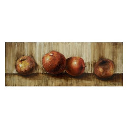 Yosemite - Yosemite FCF5865-2 Subdued Still II Wall Art - Yosemite FCF5865-2 Subdued Still II Wall ArtContemporary still life of apples using rich earth tones and medium texture to compliment the painting's restrained style.Yosemite FCF5865-2 Features: