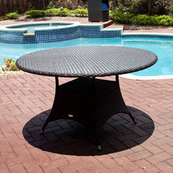 Circa Bistro Table - Source Outdoor - The All Weather Circa Bistro Table by Source Outdoor's Circa Collection features Dura-Weave resin wicker in Expresso. Contemporary, simple design complements any patio or pool.