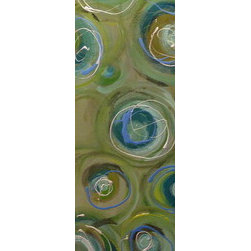 """Plutos"" (Original) By Cherry Brewer - Various Shades Of Blues, Greens, And Browns With Scattered Swirls Of Complimentary Colors Create This Completely Original Work Of Art. Gallery Wrapped With The Sides Painted In The Same Background Color, This Work Will Arrive Wired And Ready To Hang!"