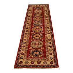 1800-Get-A-Rug - Super Kazak Oriental Rug Runner Hand Knotted Rug Tribal Sh12243 - About Tribal & Geometric