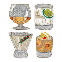 Blame it on the Coasters - Set of 4 - Drink it all in: the charming shapes, the vibrant colors, the whimsical details. The Blame It on The Coasters - Set of 4 render favorite drinks in fine, fun detail. A conversation starter as well as an unexpected addition to your barware, the napkins allow you to serve your guests their favorite libations with unexpected flair.