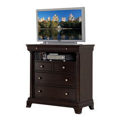 Homelegance - Homelegance Inglewood 42 Inch TV Chest in Cherry - Sophistication merges with elegant lines and classic shapes in the Inglewood collection.