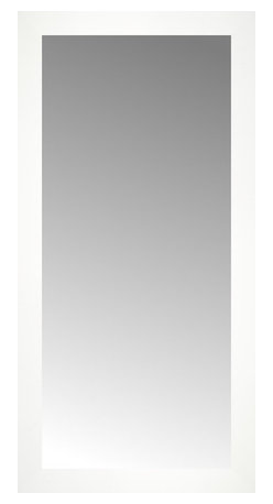 """Posters 2 Prints, LLC - 18"""" x 36"""" White Wide Cube Custom Framed Mirror - 18"""" x 36"""" Custom Framed Mirror made by Posters 2 Prints. Standard glass with unrivaled selection of crafted mirror frames.  Protected with category II safety backing to keep glass fragments together should the mirror be accidentally broken.  Safe arrival guaranteed.  Made in the United States of America"""