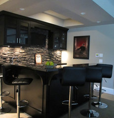 contemporary basement by Your Designer