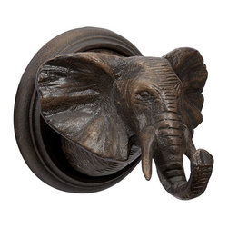The Emily + Meritt Animal Wall Hook, Elephant - This elephant hook is perfect for hanging bracelets, scarves or necklaces in a teen girl's bedroom.