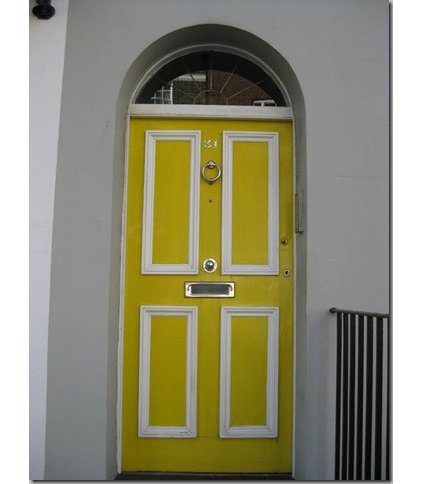 Traditional  Chelsea Yellow Door