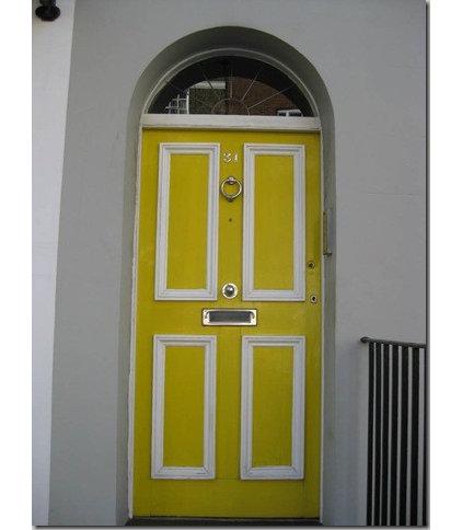 Traditional  Chelsea Yellow Door