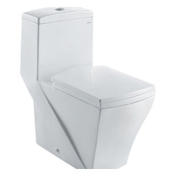 "Ariel - Ariel ""Granada"" Contemporary One Piece White Toilet with Dual Flush - Ariel cutting-edge designed one-piece toilets with powerful flushing system. It?s a beautiful, modern toilet for your contemporary bathroom remodel. Dimensions:  26.5 x 14 x 28.5, UPC Approved, 12"" Rough in For easy standard installation, High Quality Glaze that resist stains and Microbes, Seat is Included with the Toilet, Fully Glazed Trapway for smoother flushes, Dual flush (0.8gpf / 1.6gpf), Elongated Bowl, One Piece Construction for Clean modern look / S-trap"