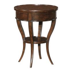 EuroLux Home - New Side Table Mahogany Mahogany Round - Product Details