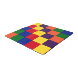 """ECR4Kids - 60"""" Square Utra Soft Toddler Mat - This colorful, high-quality mat is 2'' thick and made for tender little hands and feet. The vinyl covering is exceptionally soft and will comfort a baby during play time. Features: -Vinyl covering.-2'' thick mat.-Collection: SoftZone.-Distressed: No.-Mat Material: Foam.-Number of Items Included: 1.-Non Toxic: Yes.-Water Resistant: No.-Scratch Resistant: No.-Stain Resistant: Yes.-Odor Resistant: No.-Slip Resistant Surface: No.-Anti-bacterial Surface: Yes.-Organic: No.-Cushioned: Yes.-Sensory Stimulation: No.-Textured: No.-Interlocking Tiles: No.-Removable Pieces: No.-Hanging Toys Included: No.-Cover Included: No.-Handle: No.-Folding: Yes.-Convert to Storage: No.-Carry Bag Included: No.-Reversible: No.-Casters Included: No.-Battery Operated: No.-Musical: No.-Wall Attachment: No.-Age Recommended: Ages 9 mos and up.-Gender: Neutral.-Machine Washable: No.-Outdoor Use: No.-Commercial Use: No.-Recycled Content: No.Specifications: -Greenguard Certified: Yes.-CPSIA or CPSC Compliant: No.Dimensions: -Overall Height - Top to Bottom (Color: Primary): 1.5"""".-Overall Width - Side to Side (Color: Primary): 58"""".-Overall Depth - Front to Back (Color: Primary): 58"""".-Mat Thickness: 2"""".-Overall Product Weight: 14 lbs.Assembly: -Assembly Required: No."""