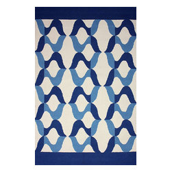 nuLOOM - Contemporary Outdoor 5' x 8' Blue Hand Hooked Area Rug NO5 Indoor Outdoor - Made from the finest materials in the world and with the uttermost care, our rugs are a great addition to your home.