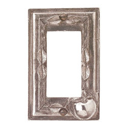 Renovators Supply - Switchplates Antique Solid Brass Apple GFI Switch Plate - Switchplates: It only takes a minute to reinvigorate a room with these decorative wallplates.