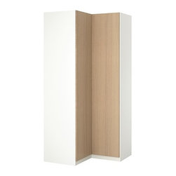 IKEA of Sweden - PAX Corner wardrobe - Corner wardrobe, white, Nexus white stained oak