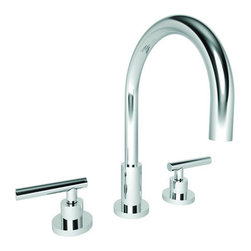 "Newport Brass - Newport Brass 990L East Linear Double Handle Widespread Lavatory Faucet - East Linear Double Handle Low Lead Widespread Lavatory Faucet with Metal Lever HandlesThe East Linear Collection from Newport Brass will be a stylish and modern looking addition to any household. With its smooth, simple lines, the East Linear Collection is a great way to enhance the beauty of your home. Newport Brass lavatory faucets are available in several different styles with 25 unique finish options. Every Newport Brass bathroom faucet is CA/VT low lead compliant and WaterSense certified. Solid brass construction and ceramic disc cartridges ensure that your Newport Brass bath faucet will last the test of time. You will see why Newport Brass boasts Flawless Beauty from Faucet to FinishFeatures:Double handle lavatory faucetADA compliant lever handlesBrass Valve Bodies. Valve Included.Quarter-turn washerless ceramic disc valve cartridgesPop-up drain with tail pieceMetal lever handlesCA/VT Low lead compliantWaterSense CertifiedSolid brassReadyship Available Finishes - Finishes guaranteed to be in stock by Newport BrassOil Rubbed BronzeSatin NickelPolished ChromeFinish Features:Available in 25 beautiful finishesNew Industry Leading lacquer Finish ProcessIAPMO Certified and testedLong Life Finishes - 10 Year WarrantyDurable, color protected, scratch resistantGreen, low VOC, energy efficient finishing processSpecifications:Spout reach: 7-9/16""Spout Height: 6-1/8""Overall Height: 11-9/16""Handles Included: Yes8"" CentersLow Lead Compliant : YesWaterSense Certified : YesMaterial : Solid Brass1/2"" valves"