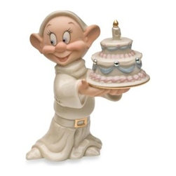 Disney By Lenox - Disney by Lenox Dopey's Birthday Wish Figurine - Dopey captured Snow White's heart with his huge grin and generous spirit.