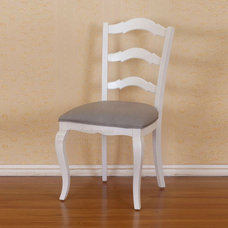 Traditional Dining Chairs Ladder Back White Chair