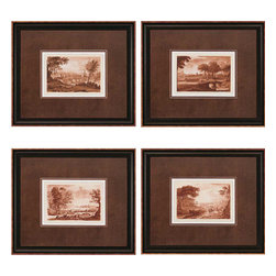 Paragon - Landscapes PK/4 - Framed Art - 1442 - Each product is custom made upon order so there might be small variations from the picture displayed. No two pieces are exactly alike.