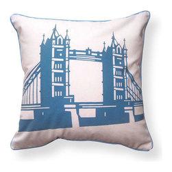 "Naked Decor - Tower Bridge of London Pillow - Size: 16""x16"""