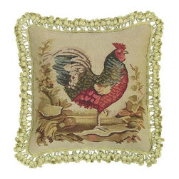 """EuroLux Home - New Aubusson Throw Pillow Square 16""""x16"""" - Product Details"""