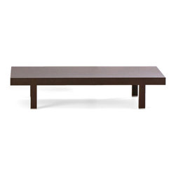 Bensen - Woodward Rectangular Coffee Table - The Woodward table-tops are a combination of solid wood, core panel construction and veneers. The core panel construction ensures increased structural stability with low weight through a process of heat fusion of panels to substrate for a permanent bond.