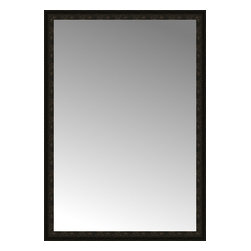 """Posters 2 Prints, LLC - 47"""" x 67"""" Mantilla Expresso Custom Framed Mirror - 47"""" x 67"""" Custom Framed Mirror made by Posters 2 Prints. Standard glass with unrivaled selection of crafted mirror frames.  Protected with category II safety backing to keep glass fragments together should the mirror be accidentally broken.  Safe arrival guaranteed.  Made in the United States of America"""