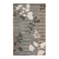 Surya - Stella Smith II Hand Tufted Rug in Gray / Light Gray / Olive - Original design of the Rug from Stella Smith II Collection consists of floral and geometric patterns. Horizontal lines and depiction of branches with leaves will make decent and cute look of your room.