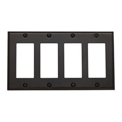 Baldwin Hardware - Beveled Edge 4 GFCI Wall Plate in Venetian Bronze (4742.112.CD) - Feel the difference - Baldwin hardware is solid throughout, with a 60 year legacy of superior style and quality. Baldwin is the choice for an elegant and secure presence. Baldwin guarantees the beauty of our finishes and the performance of our craftsmanship for as long as you own your home.