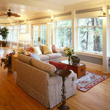 Traditional Family Room by Sharratt Design & Company