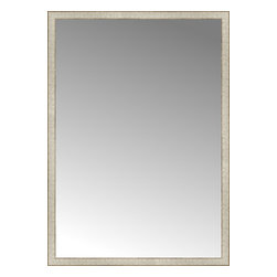 """Posters 2 Prints, LLC - 42"""" x 59"""" Libretto Antique Silver Custom Framed Mirror - 42"""" x 59"""" Custom Framed Mirror made by Posters 2 Prints. Standard glass with unrivaled selection of crafted mirror frames.  Protected with category II safety backing to keep glass fragments together should the mirror be accidentally broken.  Safe arrival guaranteed.  Made in the United States of America"""
