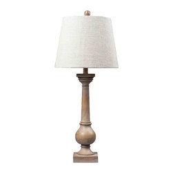 Dimond Lighting - Dimond Lighting 93-9248 Taylorsville Bleached Wood Table Lamp - Dimond Lighting 93-9248 Taylorsville Bleached Wood Table Lamp