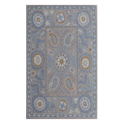 """Dynamic Rugs - Dynamic Rugs Sapphire 4900-966 (Grey) 3'6"""" x 5'6"""" Rug - This Hand Tufted rug would make a great addition to any room in the house. The plush feel and durability of this rug will make it a must for your home. Free Shipping - Quick Delivery - Satisfaction Guaranteed"""