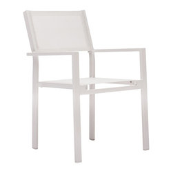 Zuo Modern - Zuo Modern Silverstrand Outdoor Dining Chair (Pack of 4) X-090307 - Sleek and stylish, the Silverstand dining set is the perfect mix of durability and functionality all in a stylish design. The frame is aluminum and the and the seats are a textile weave.
