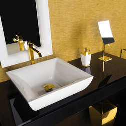 Gessi Mimi Gold Faucet and Sink -