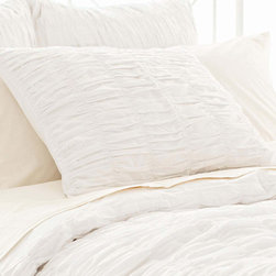 Pine Cone Hill - smocked sham (white) - Soothing neutrals and soft, subtle textures create a tranquil aesthetic for our beach house collection. Classic decorative pillows, cotton bed sheets, plush duvet covers and more are the foundation for your casual chic cottage.