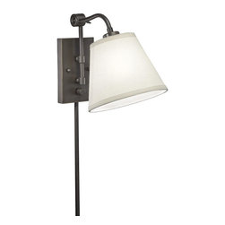 None - Swing Arm 1-light Plug-in Bronze Wall Lamp - Pinpoint light where you need it the most with this elegant wall lamp. It features a durable swing arm, which will allow you to control where you focus the light in the room, and it comes ready-to-assemble for quick and easy operations.