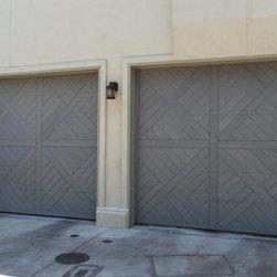 Garage Doors - Wood garage doors.