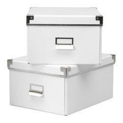 Jon Karlsson - KASSETT Box with lid for paper - Box with lid for paper, white