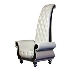 Vig - Neo Classical Chair - Upholstered in Top-Grain Italian leather and Eco-Leather on the back