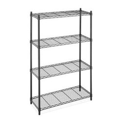 Whitmor - Supreme 4 Tier Shelving - Strong and sturdy the Whitmor 6070322 Supreme 4Tier Shelving Unit features four shelves that each hold up to 350 pounds. Ideal for use in just about any room of your home as well as in the garage the shelves are also conveniently adjustable in 1 in. increments.