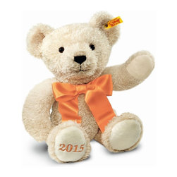 "Steiff - Steiff Cosy Bear of the Year 2015 - This cosy chap embraces all the traditional ingredients we love about Steiff but he is also so soft and has a huge hug big enough for every one of every age. With the year 2015 embroidered on his foot pad, he provides the perfect gift for so many occasions celebrated throughout the year. Whether a gift or a companion, he will always be your friend for life. ""2015"" embroidered on foot pad. Ages 3 and up. Handcrafted by Steiff of Germany."