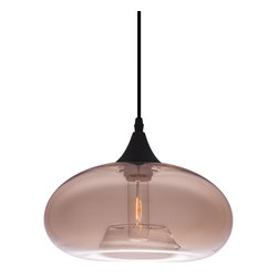 Inova Team -Modern Glass Light Pendant - Illuminate any space with the Bonita Light Pendant. Hang it over a reading chair, in the foyer, or pair it with a couple more over your dinner table. Its smoky-brown glass creates just the right ambiance for a nice evening in for two or just you, and it comes with a distinctive Edison bulb for the finishing touch.