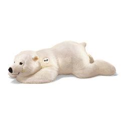 Steiff - Steiff Arco Polar Bear - A big cuddly polar bear to hug! Steiff Arco Polar Bear is made of cuddly soft white woven plush. Handmade.