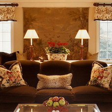 Eclectic Family Room by J. Stephens Interiors