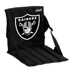 Coleman Oakland Raiders Black Stadium Seat Cushion - Don't let the hard bleachers keep you from cheering for your team! Get a padded, portable seat to keep you comfortable.