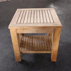 Side Table - Toraja w/ lower shelf