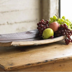 Wine Barrel Stave Bread Bowl - I love everything about this piece: the beautiful lines, gentle curves and wholesome rustic feel. I love, love, love that it is made from a recycled wine barrel. Thinking about its former life of aging wine is kind of romantic.