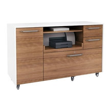 BDI - Format Mobile Credenza by BDI - Clean lines, convenient locking castors and a variety of ...