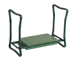 Gardener's Supply Company - Wide Garden Kneeler, Green - Our Deep-Seat Garden Kneeler is new and improved a 30% deeper seat for more cushy comfort while you tend your raised bed garden. Turn the kneeler around to make it a garden seat. The frame is solid with locking legs, and foldable for easy storage.
