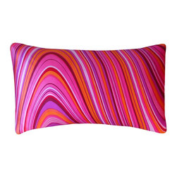 jiti - Small Psychedelic Pillow - Add some fun to your home decor with our 12x20 Psychedelic Pillow. 100% Cotton. Invisible Zipper. Dry Clean Only. Insert is 95% feathers and 5% down.
