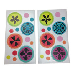 """Magical Michayla - Wall Decals - Add a little or a lot of detail to the room with """"Magical Michayla"""" wall decals which come to match many of the kaleidoscope patterns shown in this collection."""
